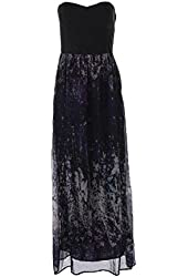 Charlie Jade Womens Silk Faux Panel Maxi Dress