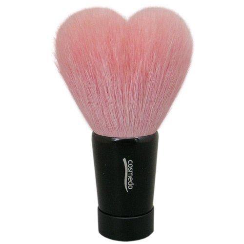 匠の化粧筆コスメ堂 熊野筆 ハート型洗顔ブラシ Lサイズ プレミアムピンク