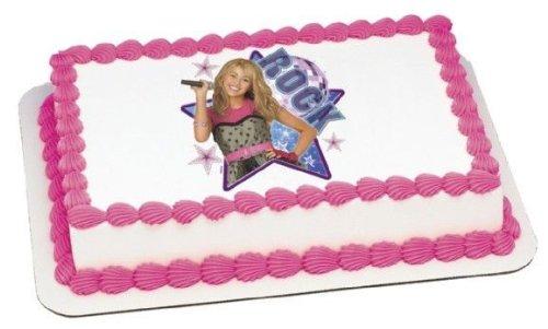 1/4 Sheet ~ Hannah Montana Rock Star Birthday ~ Edible Image Cake/Cupcake Topper!!! Hannah Montana Edible Cake Image
