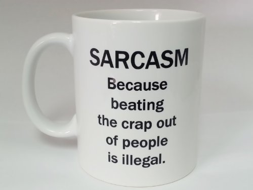 Ceramic Sarcasm Defintion Black And White 11Oz Coffee Mug Cup
