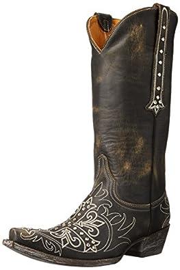 Old Gringo Women's Milagros Western Boot, Black/Beige, 6 B US