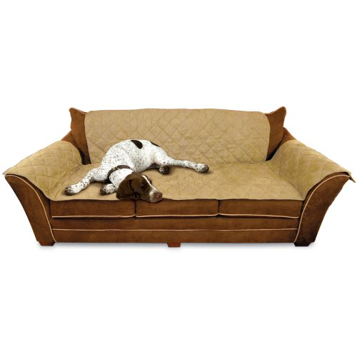 K&H Thermo Heated Furniture Cover For Couch, Tan front-868330