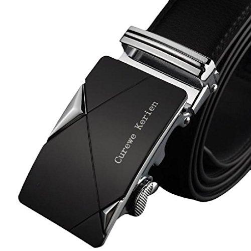 Malloom® Uomo Pelle Cintura Automatica Fibbia Cinghie con Chiusura Fascia del Lusso Cinghia 120cm X 4cm (C)