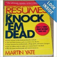 resumes that knock em dead martin yate 9781558504349