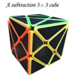Autuno Cubes, Ghost Cube, The Solid core Structure, a Subtraction 3x3x3 Cube, Puzzles (Colourful Body with Black Stickers). (Color: 6 Colour, Tamaño: Regular)