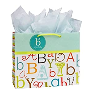 C.R. Gibson Embellished Gift Bag, Baby Love