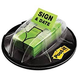 MMM680HVSD - Post-it Adhesive Sign/Date Flags with Dispenser