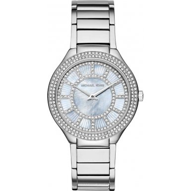 Michael Kors MK3395 37mm Silver Steel Bracelet & Case Mineral Women's Watch