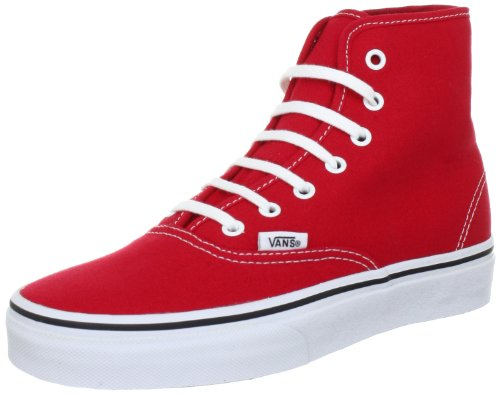 Vans U AUTHENTIC HI TRUE RED High Top Unisex-Adult Red Rot (True Red) Size: 6 (39 EU)