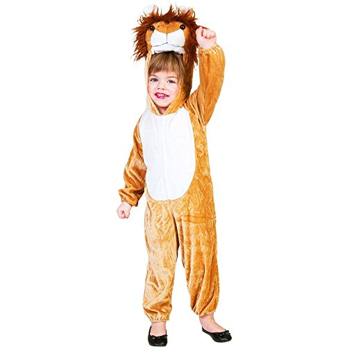 Lion Plush Jumpsuit Kids Costume