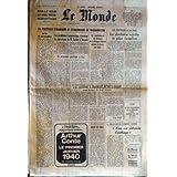 MONDE (LE) du 30/12/1977 - RETOUR A LA NORMALE AUX USINES MICHELIN DE CLERMONT-FERRAND +ΠLA POLITIQUE ETRANGERE...