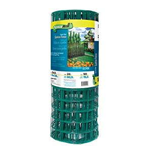 Origin Point 022450 24-Inch x 50-Foot Green Vinyl Garden Fence With 3-Inch x 2-Inch Openings