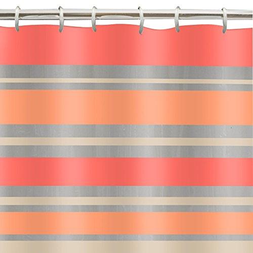 Maytex Sonata 13-Piece Peva Shower Curtain Set, Coral