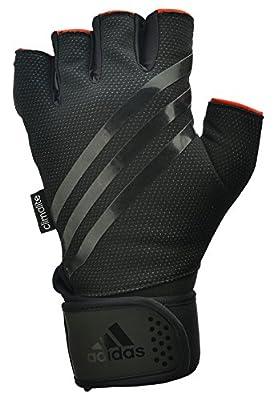 Adidas Weight Lifting Gloves - Black/Stripe Black, Large by RFE International