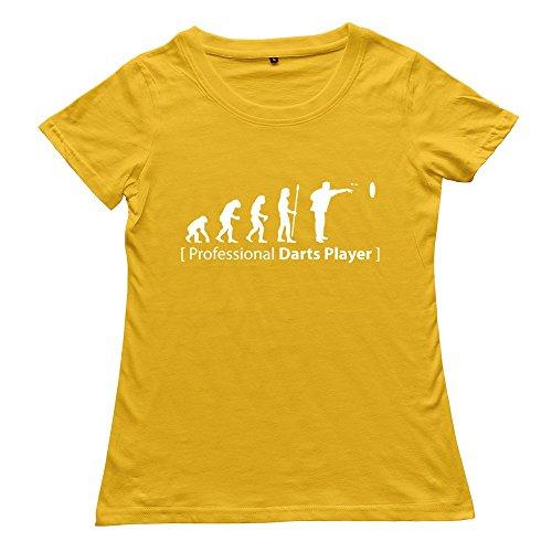Zhitian Women'S Evolution Darts T-Shirt - L Yellow