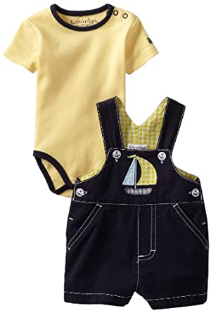 Kitestrings Baby-boys Newborn Bedford Shortall And Interlock Bodysuit 2 Piece Set, Peacoat Navy, 24 Months