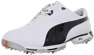 PUMA Men's Zero Limits Golf Shoe,White/Black/Puma Silver,11 M US