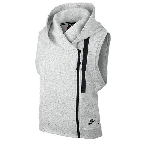 Nike Womens Tech Fleece Cape Vest Grey