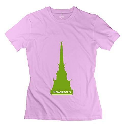Glycwh Women'S Indianapolis T-Shirt Pink Us Size L Short Sleeve
