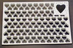 "Thermo Cookie Cutting Sheet 1-3/8"" Heart 116/Sheet"