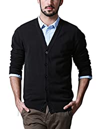 Match Men\'s Sweater Series Shawl Collar Cardigan #Z1522(US L (Tag size 2XL),Z1522 Black)