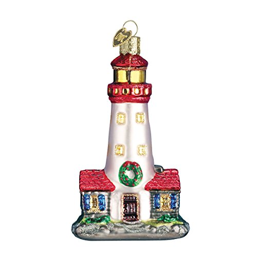 Old World Christmas Lighthouse Glass Blown Ornament
