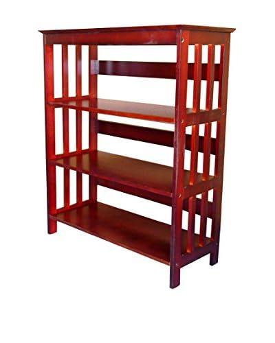 ORE International 3-Tier Bookcase, Cherry