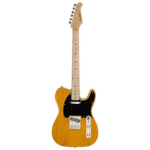Sawtooth St-Et50-Bsb Classic Et 50 Ash Body Electric Guitar - Butterscotch With Black Pickguard