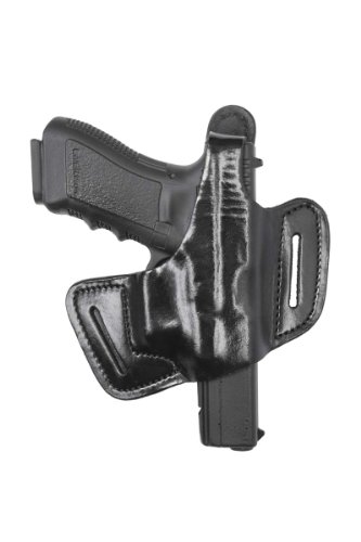 Front Line Fast-Draw Belt-Slide Leather Holster (Black), Right Hand, C.Z. 75 P07 Duty