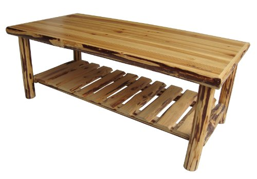 Buy Low Price Rush Creek Log Cabin Style Coffee Table 37 0048 Coffee Table Bargain
