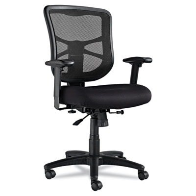 Alera EL42BME10B - Elusion Series Mesh Mid-Back Swivel/Tilt Chair, Black