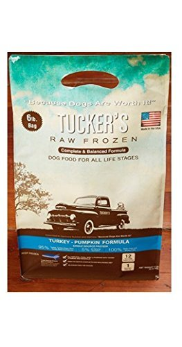 Tuckers All Natural Grain Free Raw Frozen Turkey Pumpkin Pet Dog Food Treat 6lbs