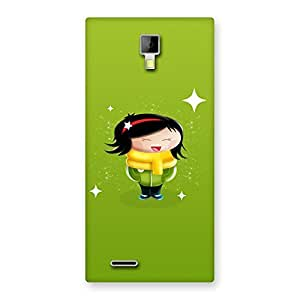 Stylish Laughing Cute Girl Print Back Case Cover for Micromax Canvas Xpress A99