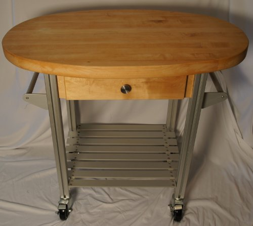 Martin Carts Industrial Kitchen Carts With Rock Hard Maple Edge Grain Top