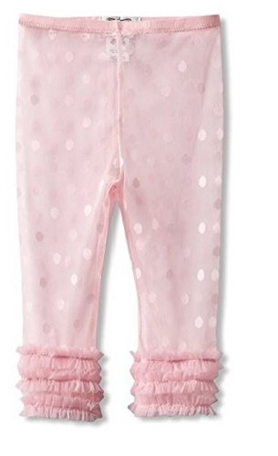 Mud Pie Baby Girl Lace Capri Leggings 9-12 Months 361009 (Light Pink) (Mud Pie White Lace Leggings compare prices)