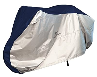 4MyCycle Bike Cover 190T Heavy Duty - Bicycle Cover Waterproof Outdoor - Suits Mountain Road, Electric and Cruiser Bikes - Royal Blue & Silver