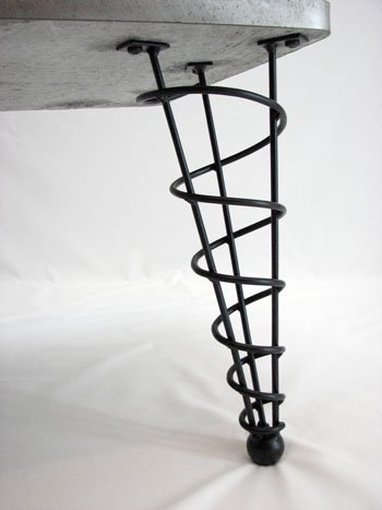 Coffee Table Leg, Angled, Black