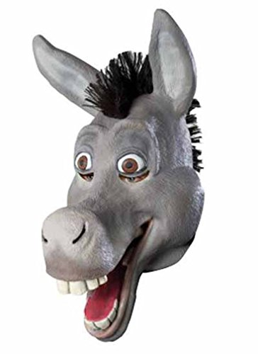 [Popcandy Shrek Donkey Mask Adult Overhead Costume Mask From Shrek 68338] (Deluxe Adult Shrek Costumes Mask)