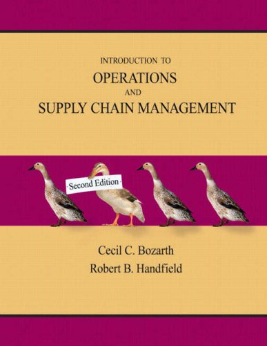 Introduction to Operations and Supply Chain Management...