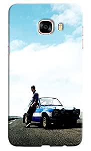 Omnam Paul Walker From Fast And Furious Pose Designer Back Cover Case For Samsung Galaxy C5
