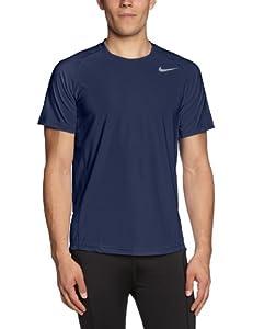 Nike Advantage UV Crew T-shirt de tennis pour homme Bleu Bleu marine/gris Medium