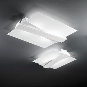 Linea light zig zag m plafoniera moderna - Plafoniere da cucina ...
