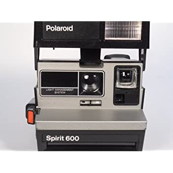 Polaroid Spirit 600 Vintage Instant Camera w/ Silver/Gray Front
