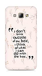 AMEZ i dont think out of the box Back Cover For Samsung Galaxy A8