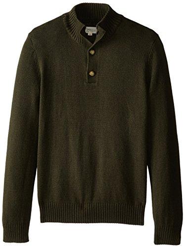 Levi's Men's Riffey Mock Neck Sweater, Olive Heather, X-Large