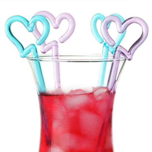 Heart Cocktail Stirrers - Pack of 50 | Plastic