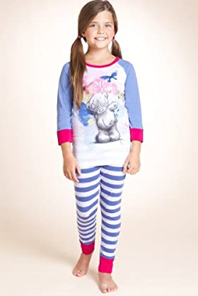 Older Girls' Cotton Rich Tatty Teddy Stripe Pyjamas