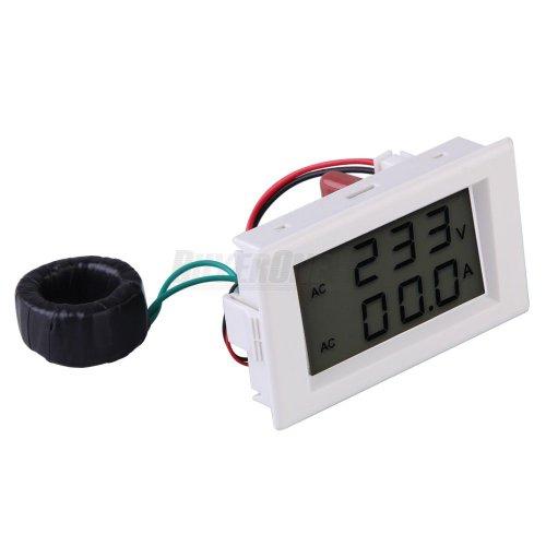 Blue Digital Voltmeter Ammeter Voltage Amp Volt Meter Panel 300V 50A