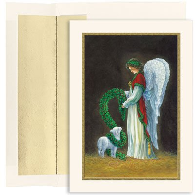 Angel and Lamb Boxed Christmas Cards & Envelopes