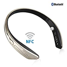 buy Favolcano Bm-170 Neckband Design Stereo Wireless 4.0 Version Cheap Bluetooth Earpiece For Smartphone Or Bluetooth Device(Gold)